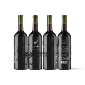 Digital Rendering of Wine Bottles