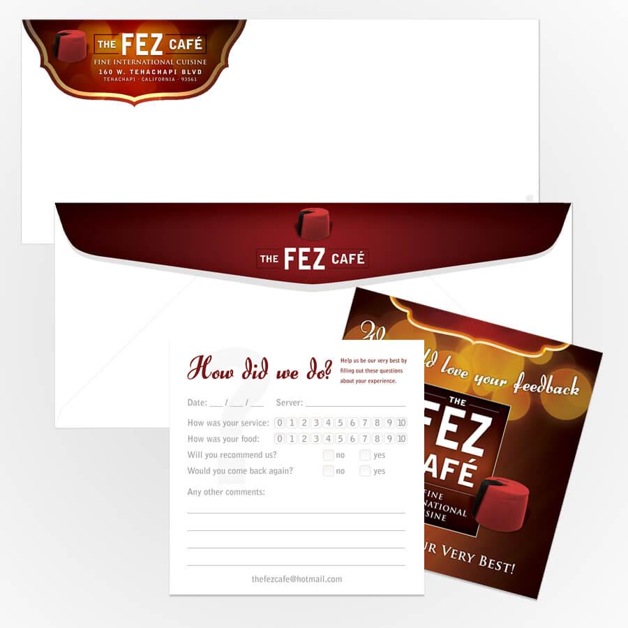 Feedback Card & Envelopes